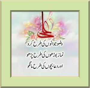Aqwaal-e-Zareen Hazrat Ali